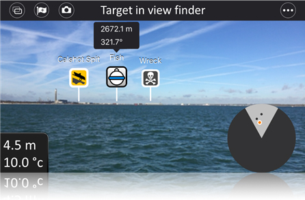 Dragonfly-appen - Målsök i View Finder | Raymarine by FLIR