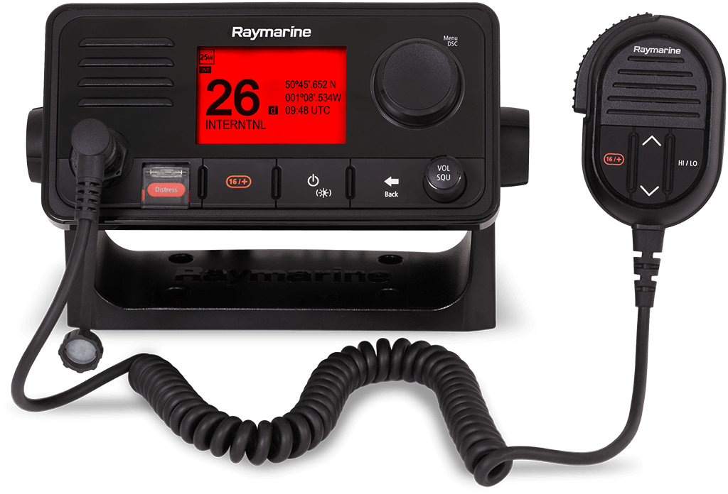 NYA Ray63 VHF-radio med multistationsfunktion och GPS | Raymarine – A Brand by FLIR