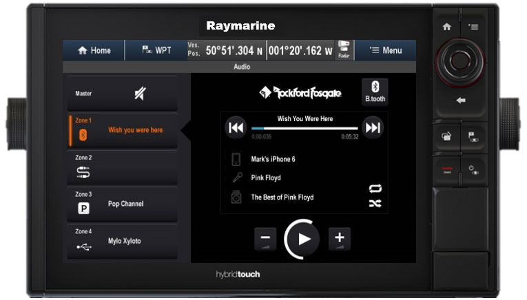 Full audiokontroll från multifunktionsdisplayen | Raymarine by FLIR