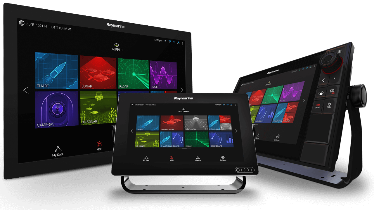 Axiom och Axiom Pro multifunktionsdisplayer | Raymarine – A Brand by FLIR