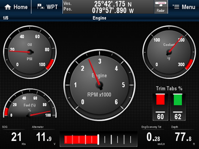 Engine Displays | Raymarine
